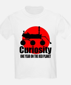 Curiosity one year on the red planet T-Shirt