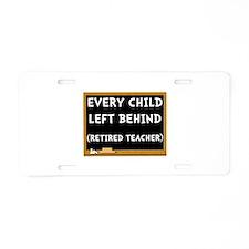 Retired Teacher Aluminum License Plate