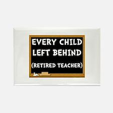 Retired Teacher Rectangle Magnet (10 pack)