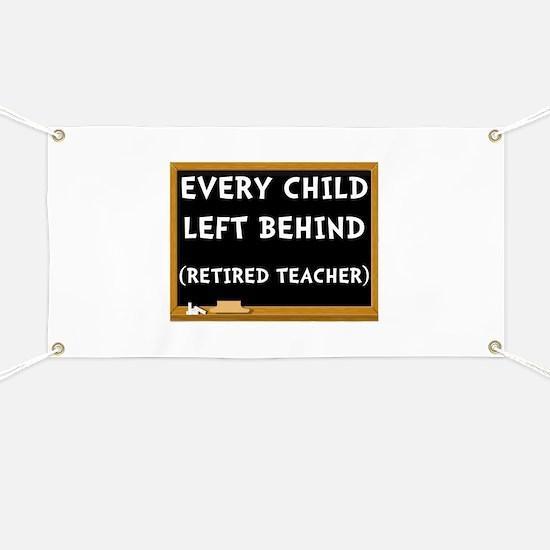 Retired Teacher Banner