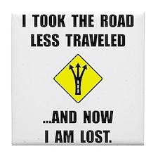 Road Less Traveled Tile Coaster