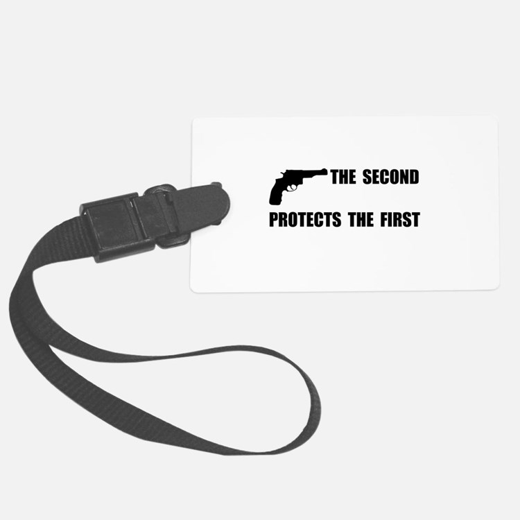 Second Protects First Luggage Tag