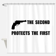 Second Protects First Shower Curtain