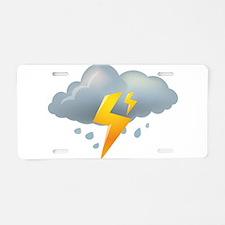Storm - Weather - Lightning Aluminum License Plate