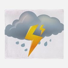 Storm - Weather - Lightning Throw Blanket