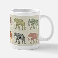 Elephant Colorful Repeating Pattern Decorator Mugs