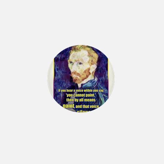 Vincent van Gogh - Art - Quote Mini Button