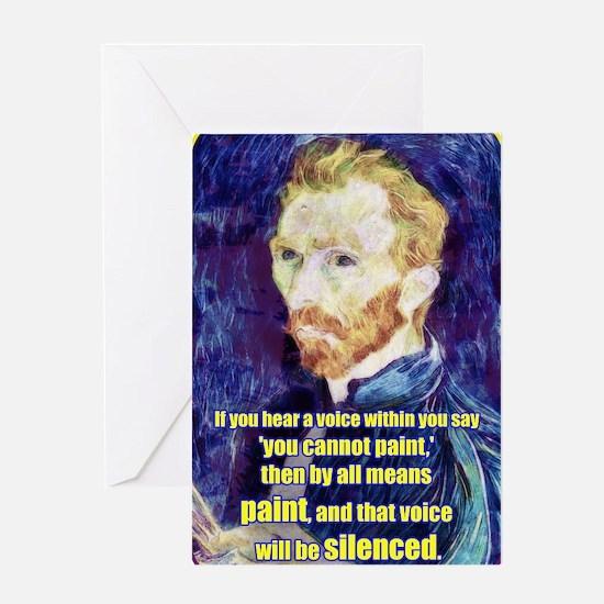 Vincent van Gogh - Art - Quote Greeting Card
