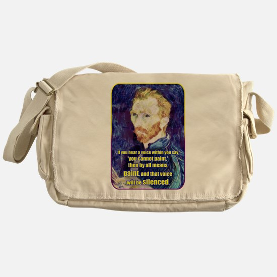 Vincent van Gogh - Art - Quote Messenger Bag