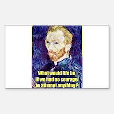Vincent van Gogh - Art - Quote Decal