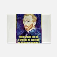 Vincent van Gogh - Art - Quote Rectangle Magnet