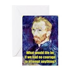 Vincent van Gogh - Art - Quote Greeting Card