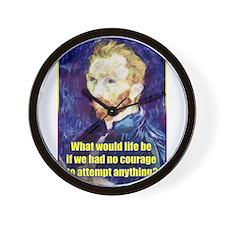 Vincent van Gogh - Art - Quote Wall Clock