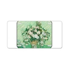 Vincent van Gogh - Art - Roses Aluminum License Pl