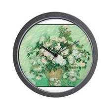 Vincent van Gogh - Art - Roses Wall Clock