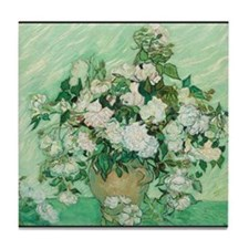 Vincent van Gogh - Art - Roses Tile Coaster