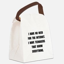Teenagers Know Canvas Lunch Bag