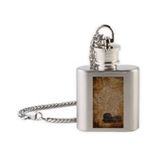 All Roads Lead to Rome Flask Necklace