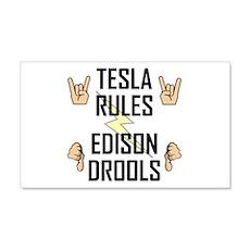 Tesla Rules Wall Decal