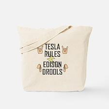 Tesla Rules Tote Bag