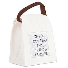 Thank A Teacher Canvas Lunch Bag