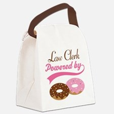 Law Clerk Powered By donuts Canvas Lunch Bag