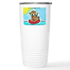 It's a piggie's life Travel Coffee Mug