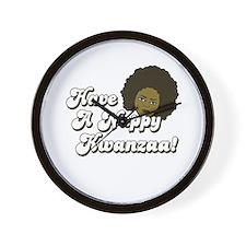 Have a Nappy Kwanzaa! Wall Clock