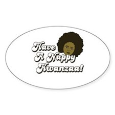 Have a Nappy Kwanzaa! Oval Decal