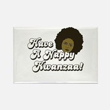 Have a Nappy Kwanzaa! Rectangle Magnet