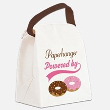 Paper Hanger Powered By donuts Canvas Lunch Bag