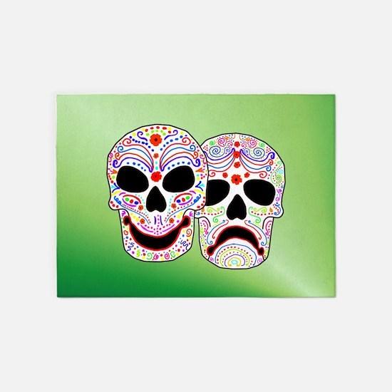 Comitragic DODT Skulls 5'x7'Area Rug