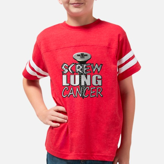 Screw Lung Cancer Youth Football Shirt