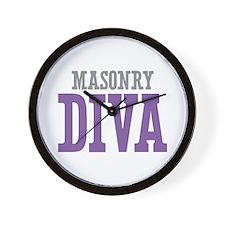 Masonry DIVA Wall Clock