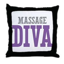 Massage DIVA Throw Pillow