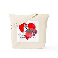 Gray Siberian Husky Tote Bag