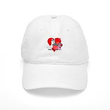 Gray Siberian Husky Baseball Cap