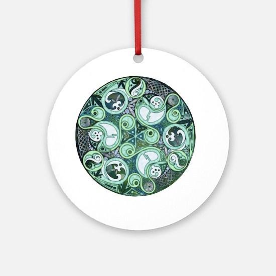 Celtic Stormy Sea Mandala Ornament (Round)