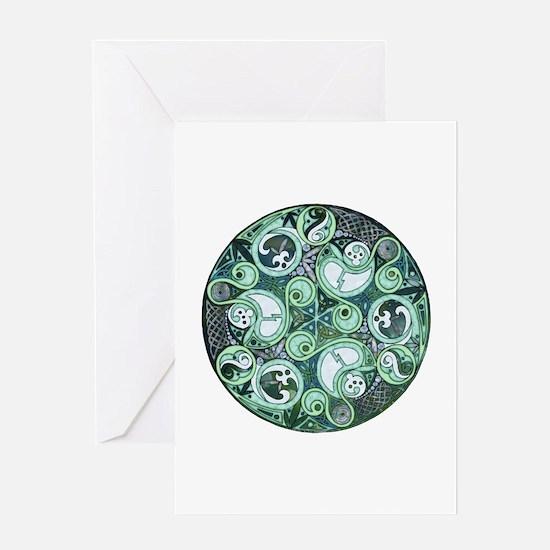 Celtic Stormy Sea Mandala Greeting Card