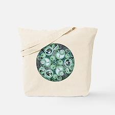 Celtic Stormy Sea Mandala Tote Bag