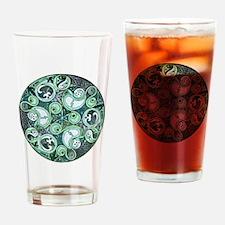 Celtic Stormy Sea Mandala Drinking Glass