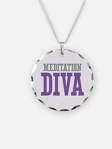 Meditation DIVA Necklace Circle Charm