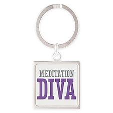 Meditation DIVA Square Keychain