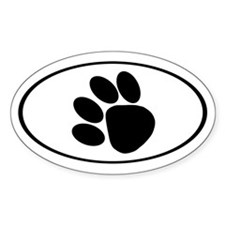 Paw Print Oval Decal