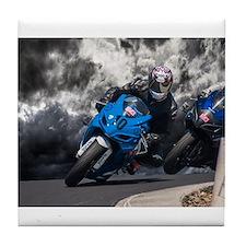 Racing the rain Tile Coaster