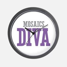 Mosaics DIVA Wall Clock