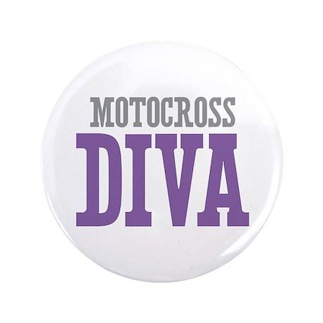 "Motocross DIVA 3.5"" Button"