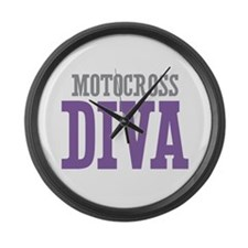 Motocross DIVA Large Wall Clock