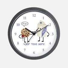 Milk and Cookie Couple Wall Clock