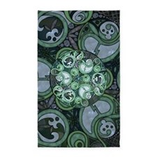 Celtic Stormy Sea Mandala 3'x5' Area Rug